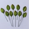 Листики Зеленые 10 шт, 25мм Mulberry Paper Leaves