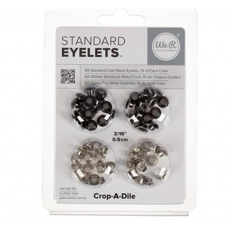 Люверсы Standard Eyelets – COOL METAL, 60 шт
