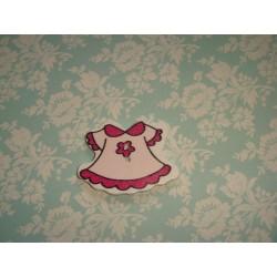 Деревянная Пуговица Платье Малиновое 3.7см x 27.0мм