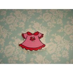 Деревянная Пуговица Платье Красное 3.7см x 27.0мм
