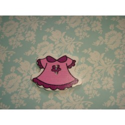 Деревянная Пуговица Платье Фиолетовое 3.7см x 27.0мм