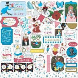 Наклейки Alice In Wonderland No. 2, 30*30 см, Echo Park Paper