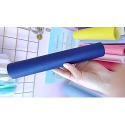 Итальянский переплетный кожзам Питон Синий 25*35 см