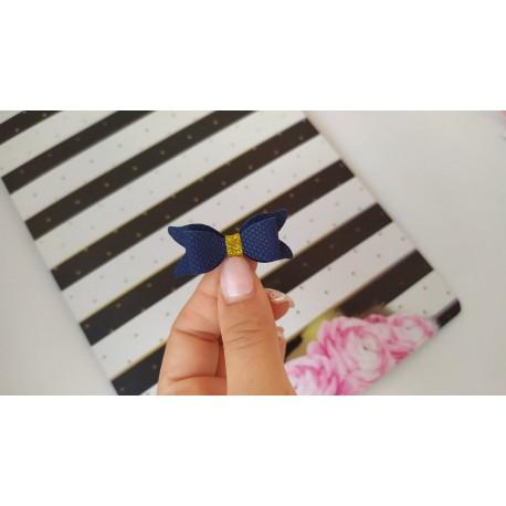 Набор для создания банта из Итальянского переплетного кожзама 5*2 см, Синий питон