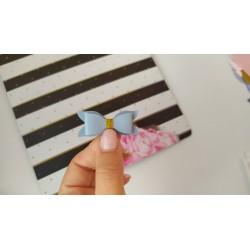 Набор для создания банта из Итальянского переплетного кожзама 5*2 см, Голубой глянец