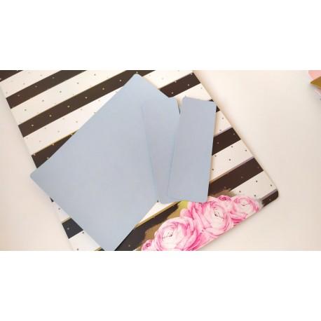 Заготовка на паспорт из Итальянского переплетного кожзама Голубой глянец