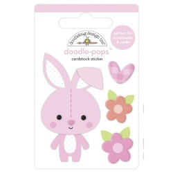 Наклейка 3D Snuggle Bunny, Bundle Of Joy от Doodlebug