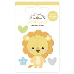 Наклейка 3D Lovable Lion, Special Delivery от Doodlebug