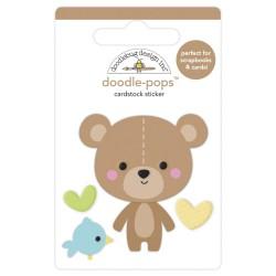 Наклейка 3D Bear Hug, Special Delivery от Doodlebug