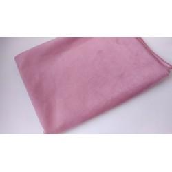 Замш Розово-сиреневый на дайвинге 25*37 см