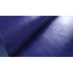 Итальянский переплетный кожзам Темно-синий глянец 25*35 см