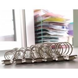 Кольцевой механизм Серебро  А5. диаметр колец 2,5 см. + болты 2 шт