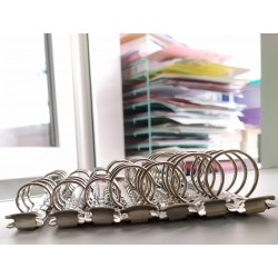 Кольцевой механизм Серебро  А5. диаметр колец 3 см. + болты 2 шт