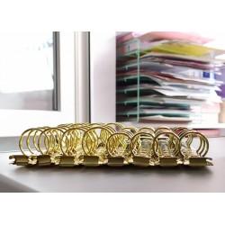 Кольцевой механизм Золото  А5. диаметр колец 2,5 см. + болты 2 шт