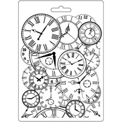 Текстурный мат Clocks Stamperia Soft Maxi Mould A5