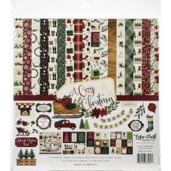 Кит Набор бумаги Echo Park A Cozy Christmas 30*30см, 12 л+ лист наклеек