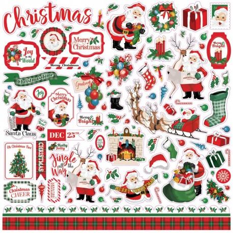 Наклейки Dear Santa, 30*30 см, Carta Bella