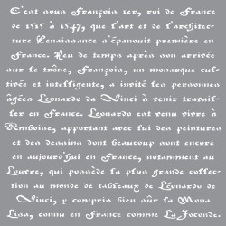 Трафарет Old French Script Americana Decor Stencil 30,5X30,5см