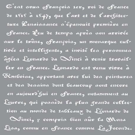 Трафарет Old French Script Americana Decor Stencil 30,5X30,5см