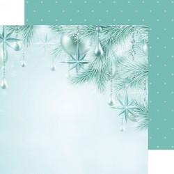 Скрапбумага Twinkle Star LET IT SNOW Double-Sided 30,5*30,5 см с фольгированием  от Kaisercraft