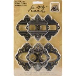 "Набор металлических рамок Idea-Ology Metal Buckles W/Brads 1.5"" 6/Pkg от Tim Holtz"