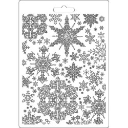 Текстурный мат Snowflakes, Winter Tales  Stamperia Soft Maxi Mould A5