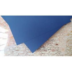 Дизайнерский картон Синий джинс с легкой факторой 21*22,5 см, плотность 250 гр