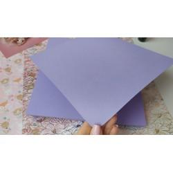 Дизайнерский картон Нежно сиреневый с легкой факторой 21*22,5 см, плотность 250 гр