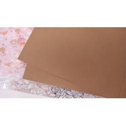 Дизайнерский картон Светло коричневый 21*22,5 см, плотность 270 гр
