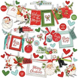 "Наклейки Simple Vintage North Pole Cardstock Stickers 12""X12"" Simple Stories"