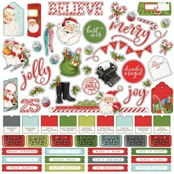 "Наклейки Simple Vintage North Pole Cardstock Stickers Combo 12""X12"" Simple Stories"