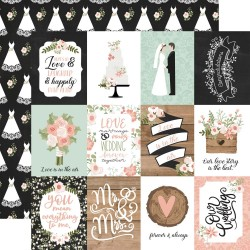 """Скрапбумага Our Wedding 3""""X4"""" Journaling Cards Double-Sided Cardstock 12""""X12"""" от Echo Park Paper"""