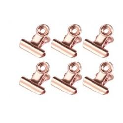 Биндеры PINK GOLD 21*23 мм, 6 шт