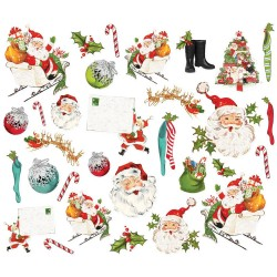 Высечки Simple Vintage North Pole Bits & Pieces Die-Cuts 31/Pkg, Simple Stories