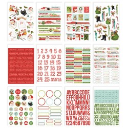 Набор наклеек Simple Stories Sticker Book 12/Sheets Simple Vintage North Pole, 684/Pkg
