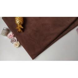 Замш двухсторонняя Шоколад, средней плотности 25*37см