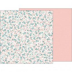 Скрапбумага лист Crate Paper Night Night Baby Girl Baby Blossoms, 30,48*30,48 см