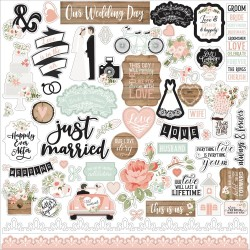 "Наклейки Our Wedding Cardstock Stickers 12""X12"" Echo Park"