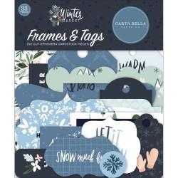 Набор высечек  Frames & Tags, Winter Market 33 шт, Carta Bella