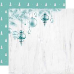 Скрапбумага  O' Christmas Tree LET IT SNOW Double-Sided 30,5*30,5 см с фольгированием  от Kaisercraft