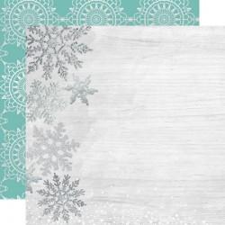 Скрапбумага Delightful LET IT SNOW Double-Sided 30,5*30,5 см с фольгированием  от Kaisercraft