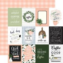 "Скрапбумага Journaling cards Coffee & Friends 12""X12"" от Echo Park Paper"