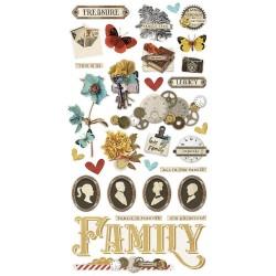 Чипборд Simple Vintage Ancestry 15*30 см, Simple Stories