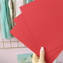 Дизайнерский картон красный 21*22,5 см, плотность 270 гр