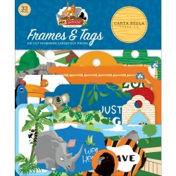 Высечки Frames & Tags, Zoo Adventure, 33 шт Carta Bella