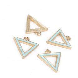 Подвеска Треугольник Голубой 15*15 мм