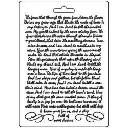 Текстурный мат Manuscript, Calligraphy  Stamperia Soft Maxi Mould A5