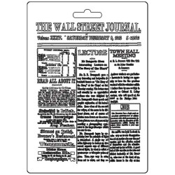 Текстурный мат The Wall Street Journal, Calligraphy  Stamperia Soft Maxi Mould A5