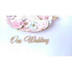 Our Wedding, зеркальный акрил  3х3.5 см и 7.5х3 см