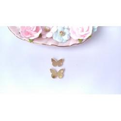 Бабочки 2 шт, зеркальный акрил